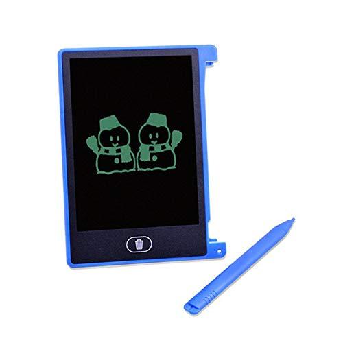 Fontsime 4.4 インチ電気 LCD 画面ライティングパッドデジタル子供描画パッド手書きボードポータブルホーム電気ボードブルー 4.4 インチ