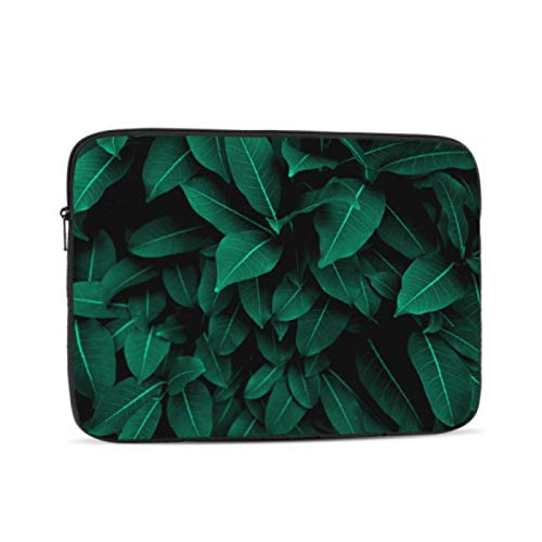 MacBook Pro Screen Protector Creative Tropical Green Leaves Layout A1708 MacBook Pro Case Multi-Color & Size Choices10/12/13/15/17 Inch Computer Tablet Briefcase Carrying Bag