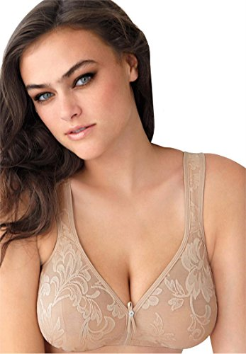 Lunaire Women's Plus-Size Versailles Seamless Soft Cup Wirefree Bra, Nude, 38D