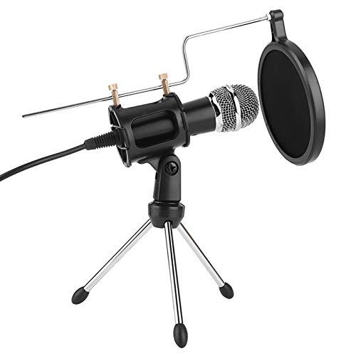 IDWT Micrófono, micrófono para Chat en línea, micrófono de grabación, micrófono de Estudio, micrófono de grabación de Karaoke para computadora/teléfono móvil, videoconferencia