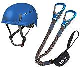 LACD Pro Evo 2.0 - Set de escalada y casco protector 2.0 Blue