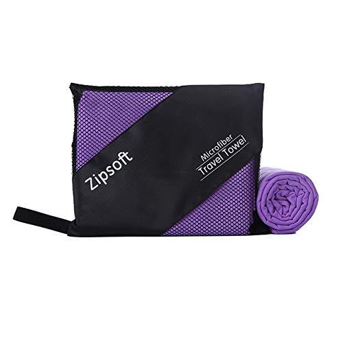 IAMZHL Toallas de Microfibra de Playa para Adultos Havlu Secado rápido Viaje Toalla Deportiva Manta Baño Piscina Camping Yoga-Violet2-80cm 160cm