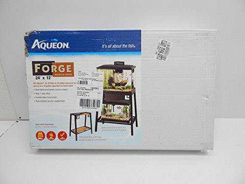 Aqueon Forge Metal Aquarium Stand, 24 by 12-Inch, Black