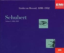 schubert lieder on record emi
