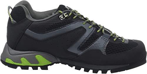 Millet - Trident GTX M - Chaussures Basses pour Randonnée, Alpinisme et Approche - Homme - Noir (BLACK/ACID GREEN) - 43 1/3
