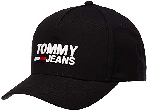 Tommy Jeans Herren TJM Logo Baseball Cap, Schwarz (Black 002), One Size (Herstellergröße:OS)
