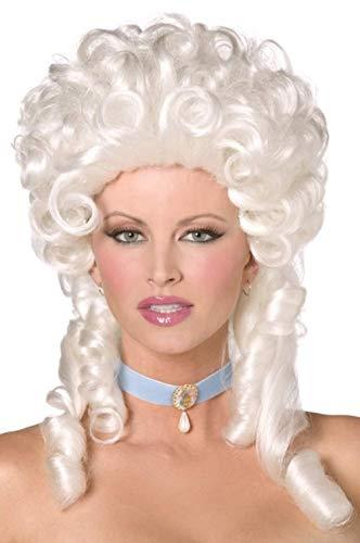 Ladies Baroque Historical Marie Antoinette Fancy Dress Curly Judge Wig