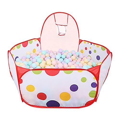 ZN Kinder Bällebad Bällepool Ball Pit Spielzelt mit Mini Basketballkorb - Pops Up Keine Montage erforderlich - Verwendung als Ball Pit oder als Indoor/Outdoor-Spielzelt (Mehrfarbig)