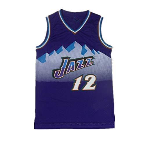 MEIBAO Camiseta De Baloncesto para Hombre Vintage, Jǒhn Stǒcktǒn # 12 Jǎzz...