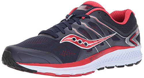 Saucony Men's Omni 16 Running Shoe, Navy Red, 8.5 M US
