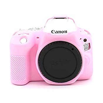 Professional Secure Silicone Camera Cover Housing Rubber Protective Body Skin Bag for Canon EOS 200D Rebel SL2 DSLR Camera and Canon EOS Rebel SL3 200D II DSLR Camera Case  Pink