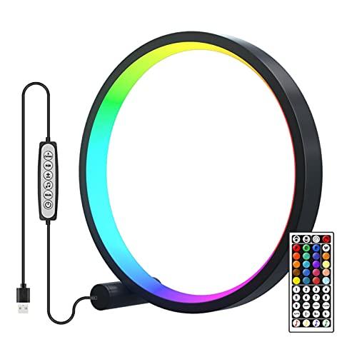 fdsad RGB Control de sonido Indicador de nivel de música Luz de ambiente LED Música ritmo luz 4 modos de atenuación múltiples modos dinámicos USB para coche casa estudio Selfie Vlog