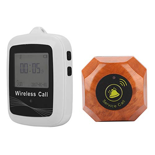 Buscapersonas Inalámbrico 1 Unids Wireless Smart Call Boton Paging System Receptor + 10pcs Calling Pager 100-240v Restaurante Recargable