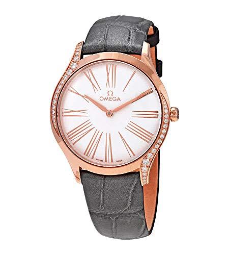 Omega De Ville Sedna automatico 18kt oro rosa diamante vigilanza delle signore 428.58.36.60.02.001