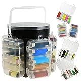 Kit de costura de 210 piezas de costura práctico con caja de almacenamiento y accesorios