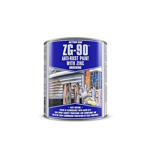 Silver (RAL 9006) Brush on Zinc galvanising Paint undercoat and top coat in 1 500ml Tub, anti rust...