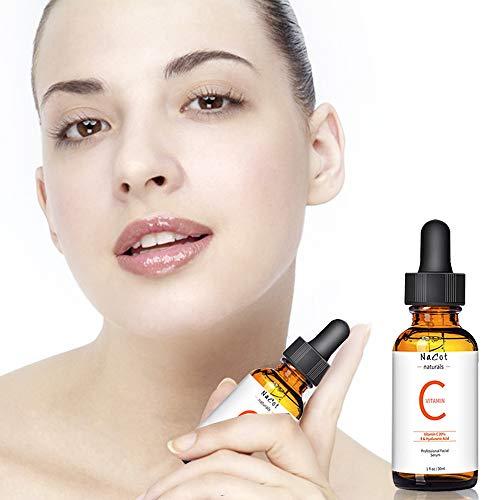 Suero Vitamina C - 20% Vitamina C Serum Gacial con el Acido Hialuronico Puro Y Vitamina E-1ml