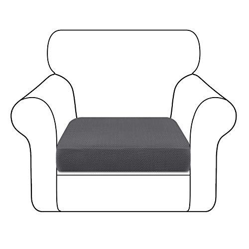 Granbest - Funda de cojín para asiento de sofá, duradera, funda de asiento de sofá, protector de muebles, para cojines individuales (1 plaza, gris)
