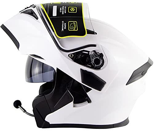 Casco Modular Abatible Bluetooth Motocross Cascos De Moto De Nieve para Hombres Mujeres Homologado por El Dot Moto Ciclomotor Street Racing Helmet 3,M=5-56CM