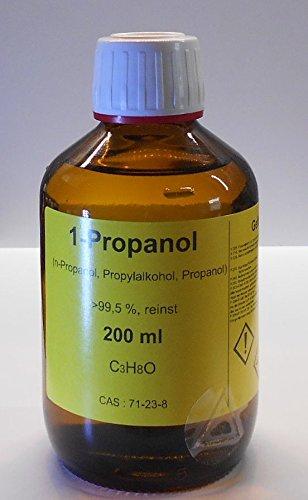 200 ml 1-Propanol 99,5%, n-Propanol, Methanol Ersatz, Reinigungs- und Desinfektionsmittel