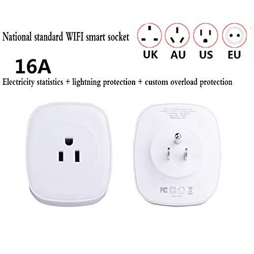MOCHEN flitsbescherming wifi intelligent energiebesparend stopcontact, mobiele telefoon afstandsbediening, intelligente timing/intelligente afstandsbediening/automatische uitschakelfunctie, thuis