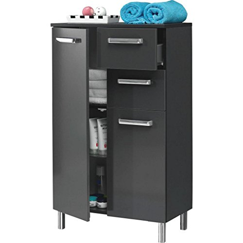 Pelipal Mainz Highboard modern Breite 60 cm Antraciet glans.