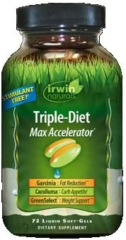 Irwin Naturals Triple Diet Max Accelerator, 72 Softgels Each (Pack of 3)