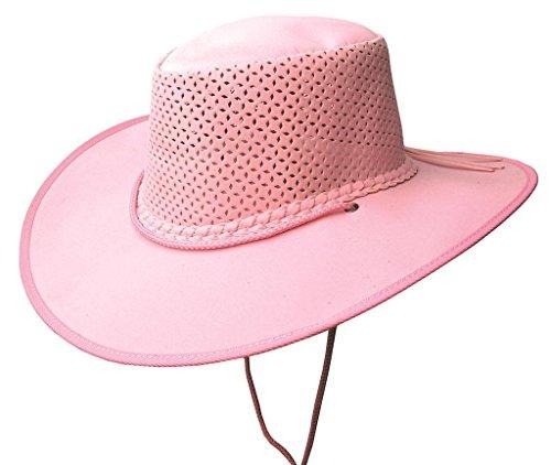 Chapeau d'été ultra léger avec bloc de chapeau perforé Kakadu Soaka Stroller - Rose - XX-Large