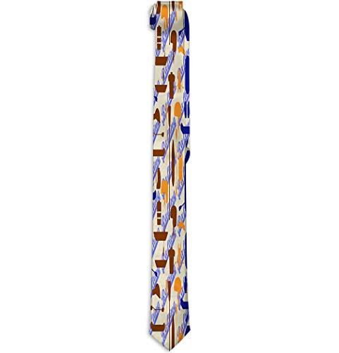 Men's Tie Fashion Neckties Necktie Choker Neck rafting Sport items silueta icon...