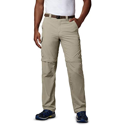 Columbia Men's Silver Ridge Convertible Pant, Breathable, UPF 50 Sun Protection, Fossil, 36x32
