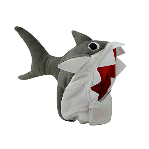 Mein ji Vlies-Hut für Halloween für Haustiere Pet Ornamente Stoff Zeichnungen Shark Pet Festival Hut Halloween Spree Hunde Stiefel Hai Katze Mütze - S für M