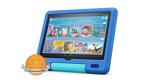 All-new Fire HD 10 Kids tablet | for ages 3–7 | 10.1', 1080p Full HD, 32 GB | Sky Blue Kid-Proof Case