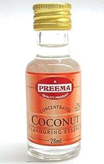 Pack de 12 botellitas de 28 ml de aromatizante de coco de Preema.