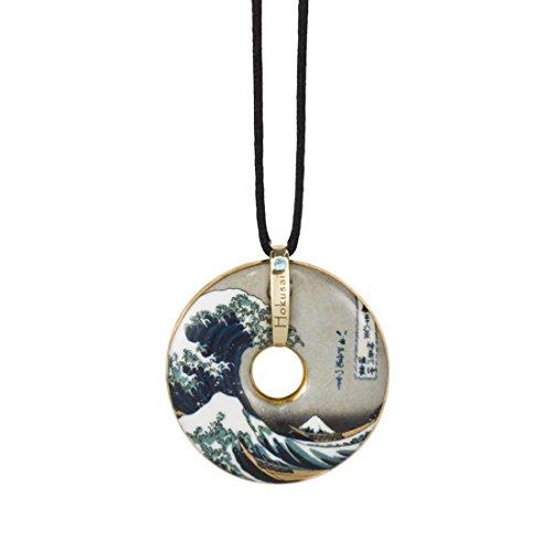 Goebel, Porzellan-Kette, Katsushika Hokusai, Die Welle, Vergoldet, Textilband mit Verschluss, Ø 5 cm, 66989948