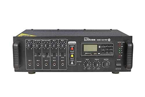 HITUNE BASS PA Amplifier with Built-in Digital Player+Bluetooth+Echo HSSB-120FBT, 120 WATTS, AC & 12V DC Operation