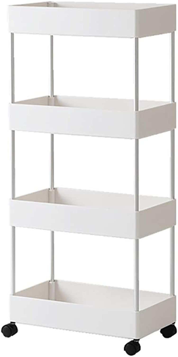 4th Floor Kitchen Plastic Rack, Landing for Kitchen Bathroom Bathroom Bedroom Storage Rack - White (color   A)