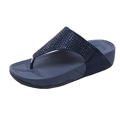 DorkasDE Damen Sandalen flip Flops Flach Zehentrenner Sommerschuhe Strandschuhe EU 37.5,Etikettengröße 39,Fußlänge 24 cm