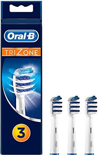 Oral-B TriZone Aufsteckbürsten, Mit innovativer 3-Zonen-Tiefenreinigung, 3 Stück
