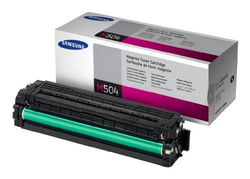 Samsung CLT-M504S/ELS Original Toner (Kompatibel mit: CLP-415/ CLX-4195/ SL-C1810W/ SL-C1860FW) magenta