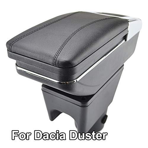 TAYDMEO Auto Armlehnen, Für Renault Dacia Duster I 2010 Bis 2015, Auto Armlehnenbox Mittelarmlehne Mittelkonsole Aufbewahrungsbox Armlehne Drehbares Autozubehör