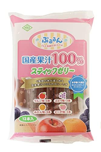 花田食品 国産果汁100%スティックゼリー 12本×12袋