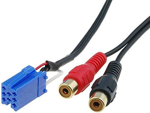 Cable Autoradio Adaptateur RCA compatible avec Smart ForFour ForTwo