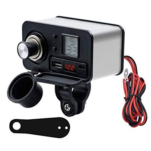 YYDSJFM Cargador de coche, adaptador de encendedor de cigarrillos, cargador multifuncional para encendedor de cigarrillos con QC3.0 y PD de carga rápida para GPS Sat Nav Phone Tablet (plata)