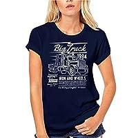 2021 New Fashion Men Tee Shirt Big Truck Iron and Wheels, Truck, Rig, America Adult Unisex & Female T-Shirt
