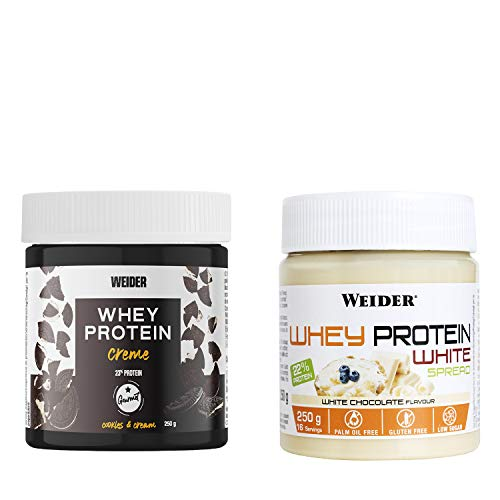 Weider Pack Spread Sabor Chocolate Blanco + Sabor Cookies & Cream 500 ml