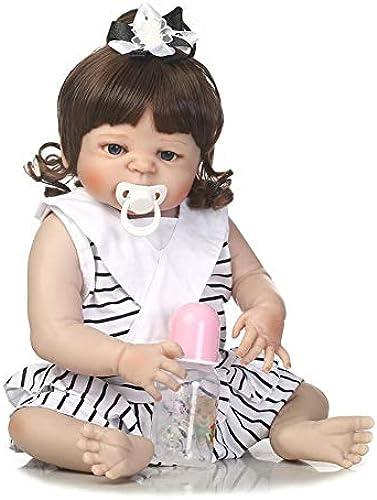 IIWOJ Reborn Babypuppe Simuliert Big-Eyed Girl Silikonpuppe 57cm Niedlich und realistisch