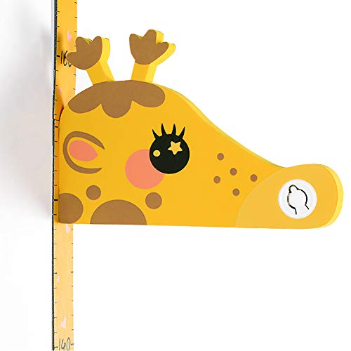 Medidor de Altura Infantil, Gráfico de Crecimiento de Quita y Pon, 3D Venado Pegatina Decorativa Infantil Adhesiva Para Pared Dibujos Animados Con Regla