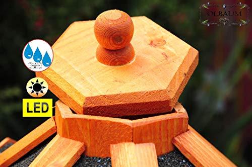 Vogelhaus-Futterhaus Massivholz,Massiv-Vogelhäuser, XXL ca. 70-75 cm, wetterfest Massivdach, mit Ständer Standfuß und Silo,Futtersilo für Winterfütterung mit Beleuchtung,Licht-LED -Holz Nistkästen & Vogelhäuser- aus Holz Holz mit Dach schwarz anthrazit BGXL75atMS - 2