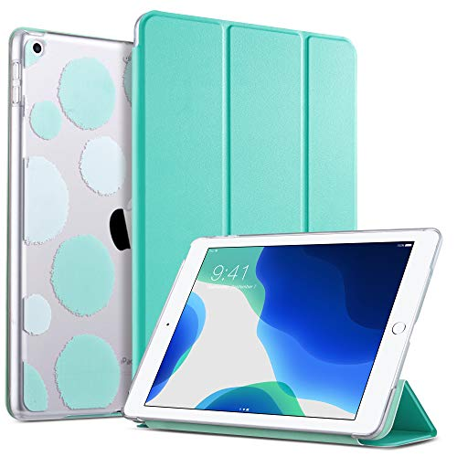 ULAK iPad 7th Generation Case, iPad 10.2 Case Slim Lightweight PU Leather Stand/Auto Sleep/Wake Smart Protective Case Cover for Apple iPad 2019 7th Generation/iPad 2020 8th Generation 10.2 inch, Mint