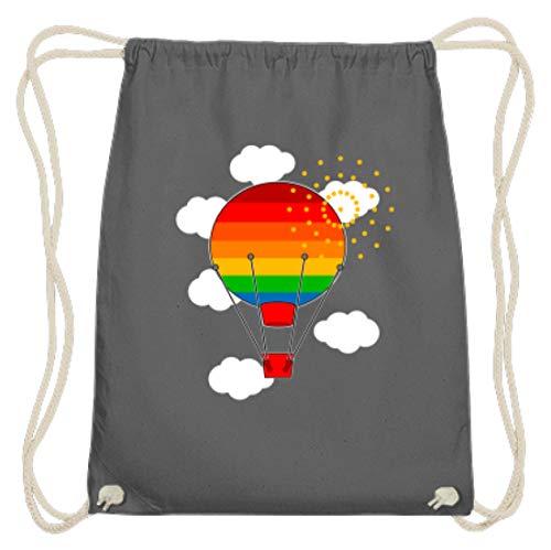 Spiritshirtshop Ballon de baudruche aux couleurs de l'arc-en-ciel – Ciel Nuages – Coton Gymsac - - Gris graphite, 37cm-46cm